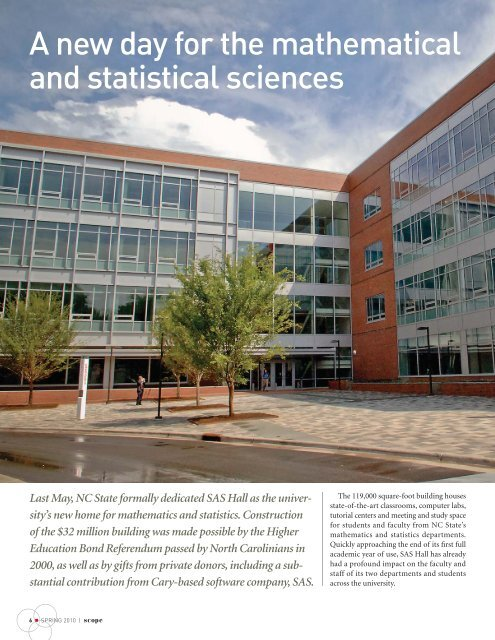 A new day for the mathematical and statistical sciences