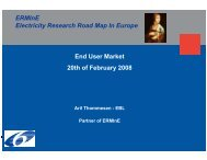 ERMInE Road Map – End Use and Electricity Markets