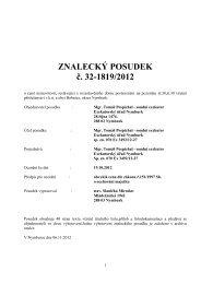 ZNALECKÝ POSUDEK č. 32-1819/2012 - Sreality.cz