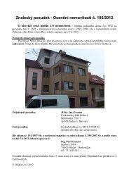 Znalecký posudek - Ocenění nemovitosti č. 105/2012 - Sreality.cz