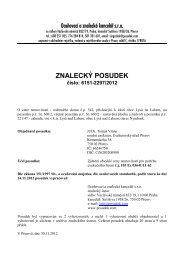 ZNALECKÝ POSUDEK číslo: 6151-2297/2012 - Sreality.cz