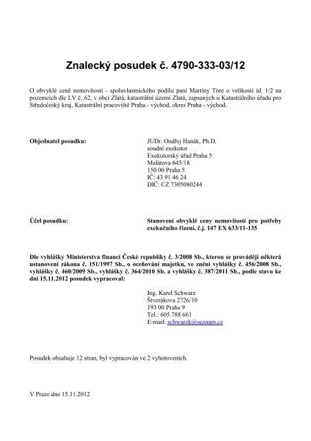 Znalecký posudek č. 4790-333-03/12 - Sreality.cz