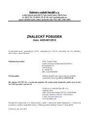 ZNALECKÝ POSUDEK číslo: 4455-601/2012 - Sreality.cz