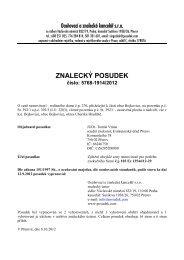 ZNALECKÝ POSUDEK číslo: 5768-1914/2012 - Sreality.cz