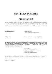 ZNALECKÝ POSUDEK 3000-216/2012 - Sreality.cz
