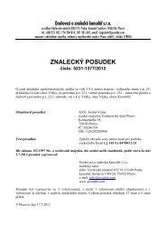 ZNALECKÝ POSUDEK číslo: 5231-1377/2012 - Sreality.cz