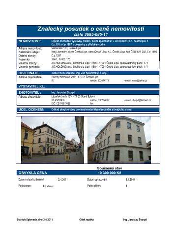 3685-085-11 Kláštersky č.p.118 a 1287 ČL - Sreality.cz