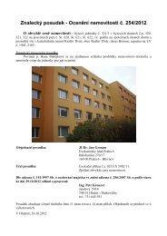 Znalecký posudek - Ocenění nemovitosti č. 254/2012 - Sreality.cz