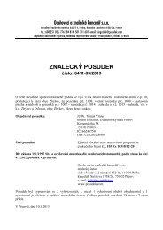 ZNALECKÝ POSUDEK číslo: 6411-83/2013 - Sreality.cz