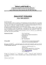 ZNALECKÝ POSUDEK číslo: 6893-565/2013
