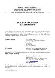 ZNALECKÝ POSUDEK číslo: 5516-1662/2012