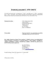 Znalecký posudek č. 4761-304/12 - Sreality.cz