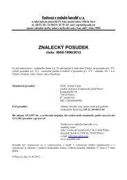 ZNALECKÝ POSUDEK číslo: 5850-1996/2012 - Sreality.cz