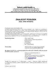 ZNALECKÝ POSUDEK číslo: 5764-1910/2012 - Sreality.cz