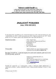 ZNALECKÝ POSUDEK číslo: 5705-1851/2012 - Sreality.cz