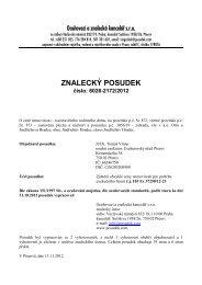 ZNALECKÝ POSUDEK číslo: 6026-2172/2012 - Sreality.cz