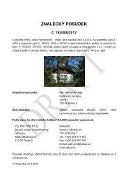 ZNALECKÝ POSUDEK č. 192/880/2012 - Sreality.cz