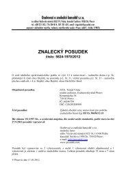 ZNALECKÝ POSUDEK číslo: 5824-1970/2012 - Sreality.cz