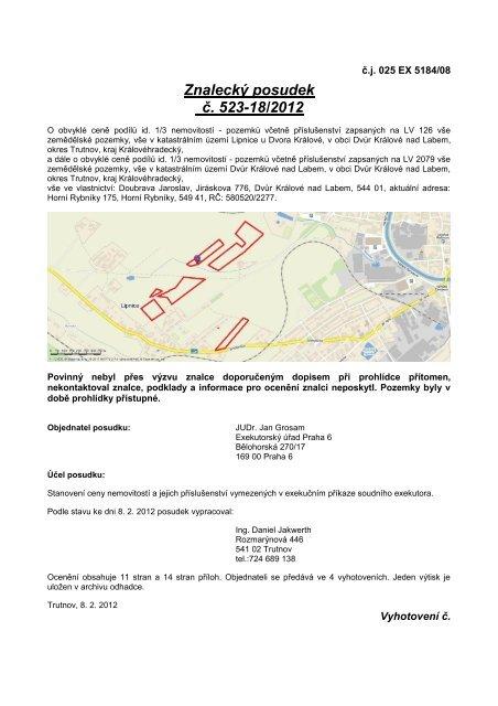 Znalecký posudek č. 523-18/2012 - Sreality.cz