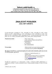 ZNALECKÝ POSUDEK číslo: 6677-349/2013 - Sreality.cz