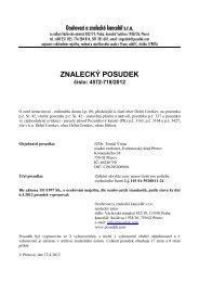 ZNALECKÝ POSUDEK číslo: 4572-718/2012 - Sreality.cz
