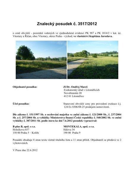 Znalecký posudek č. 3517/2012 - Sreality.cz