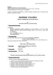 Dražební vyhláška dobrovolné dražby - e-aukce