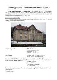 Znalecký posudek - Ocenění nemovitosti č. 47/2013 - Sreality.cz