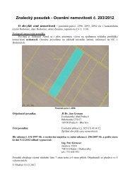 Znalecký posudek - Ocenění nemovitosti č. 293/2012 - Sreality.cz