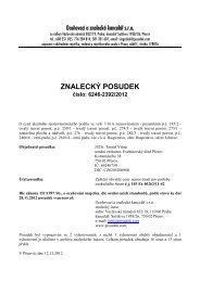 ZNALECKÝ POSUDEK číslo: 6246-2392/2012 - Sreality.cz