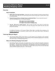 Consumer Behavior Report Wedding Shopping Trends