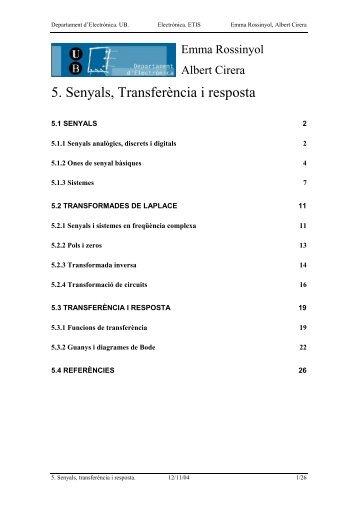 5. Senyals, Transferència i resposta - Inici
