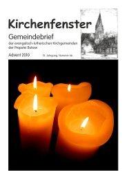 Nummer 66 Advent 2010 (PDF) - Kirchengemeinde Neubukow und ...