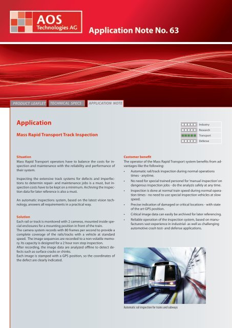 Application Note No. 63 - AOS Technologies AG