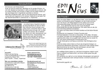 Rundbrief 13 / Juli 2004 (rundbrief12.pdf-156kByte)