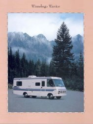 1995 Winnebago Warrior Brochure