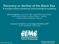 recovery or decline of the black sea: a societal choice revealed by ...