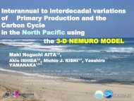Interannual to interdecadal variations of Primary Production and ...