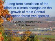 Long-term simulation of the effect of climate changes on the growth ...