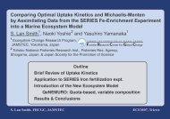 Comparing Optimal Uptake Kinetics and Michaelis-Menten by ...