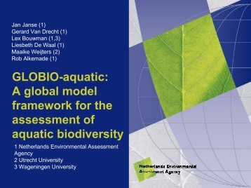 GLOBIO-aquatic - University of Trieste