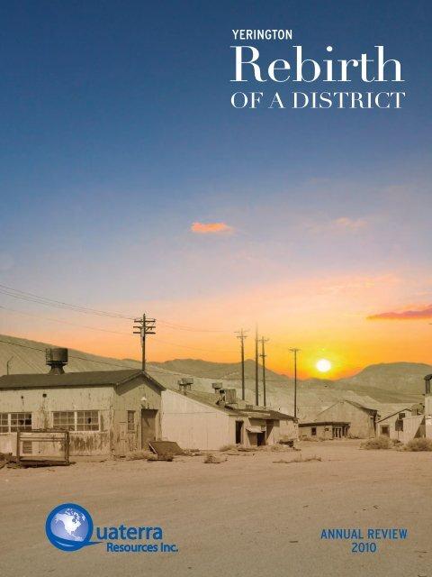 2010 Annual Report - Quaterra Resources Inc