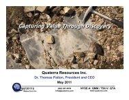 Download the PDF file - Quaterra Resources Inc