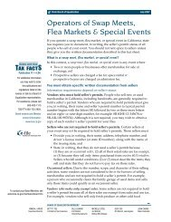 Operators of Swap meets, Flea Markets & Special Events - Fairplex
