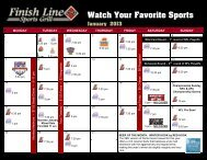 Watch Your Favorite Sports - Finish Line Sports Grill