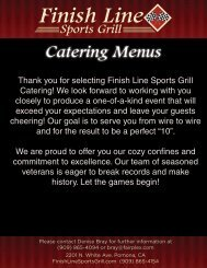 Menu - Finish Line Sports Grill