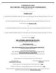 united states - Quaterra Resources Inc