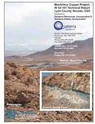 tetra tech - Quaterra Resources Inc