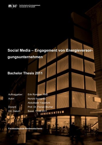 bachelor thesis fhnw basel