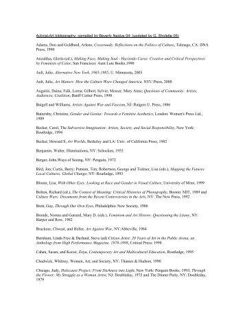 Naidus Reading List - Gregory Sholette